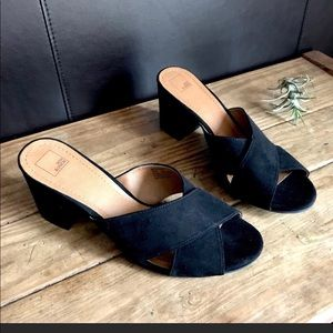14th & Union cross strap slide mules